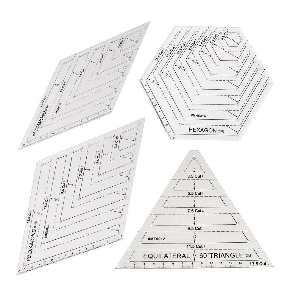 CraftCapitol™ Premium Clear Master Cut Quilting Templates