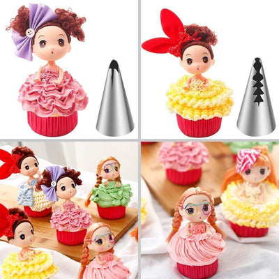 CraftsCapitol™ Premium Pastry Skirt Decorating Nozzle Piping Set