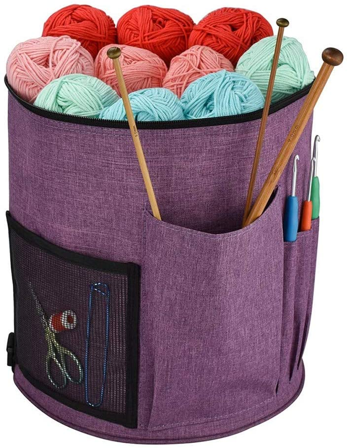CraftsCapitol™ Premium Portable Knitting Bag