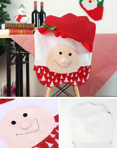 CraftsCapitol™ Premium Christmas Santa Happy Chair Cover