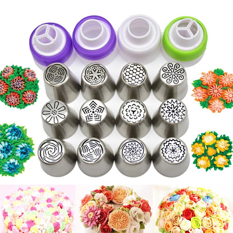 CraftsCapitol™ Premium Christmas Baking New Design Flowers Piping Tips Set