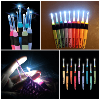 CrochetLite™ Premium Crochet Light Up Hooks