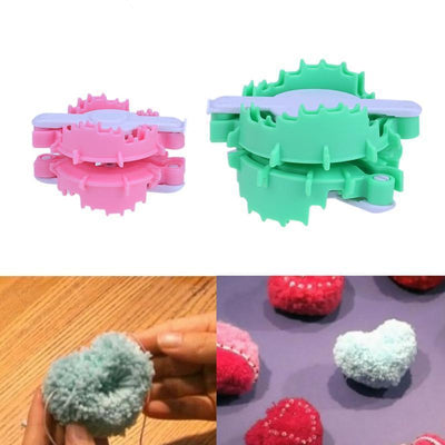 CraftsCapitol™ Premium Heart Shaped PomPom Maker