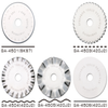 CraftsCapitol™ Premium Rotary Blades Stainless Steel [45MM] [Set 5 Style]