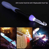 CraftsCapitol™ Premium Changeable Crochet Light Up Hooks
