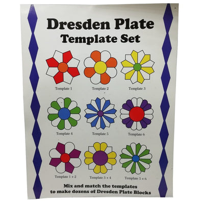 CraftsCapitol™ Premium Dresden Plate Quilting Template Set
