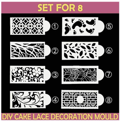 CraftsCapitol™ Cake Decorating Stencil Molds (Master Combo)