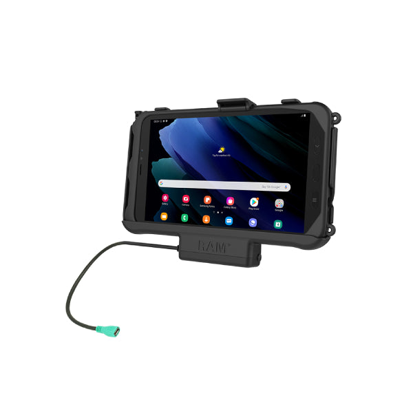 RAM-HOL-SAM60PU RAM EZ-Roll'r Powered Cradle for Samsung Tab Active3 and Tab Active2-image-1