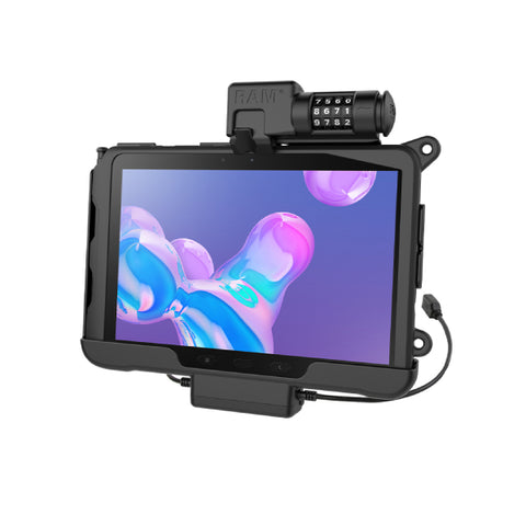 RAM-HOL-SAM57PDCLU RAM Skin Combo-Locking Power+Data Cradle for Samsung Tab Active Pro-Image-1