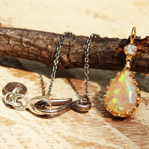 gold and opal pendant necklace thailand