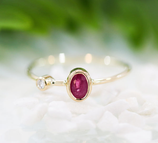 Ruby ring,ruby,red ruby,ring,gold ring,14k ring,engagement ring,wedding ring,diamond,diamond ring,14k gold,gold ring - Metal Studio Jewelry