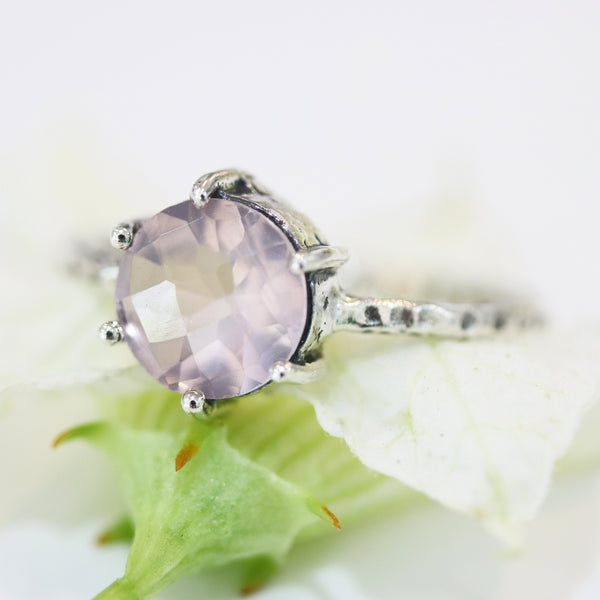 rose quartz,rose quartz ring,natural rose quartz,silver ring,sterling silver,rose quartz engagement ring,weding ring,promise ring,large ring - Metal Studio Jewelry