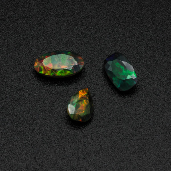 Black opal, opal gemstone, natural black opal, natural opal, opal, jewelry, ring, necklace, bracelet, pendant, Jewelry Making Supply - Metal Studio Jewelry