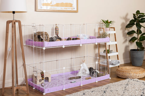 how to build a double 4x2 C&C Cage guinea pigs kavee
