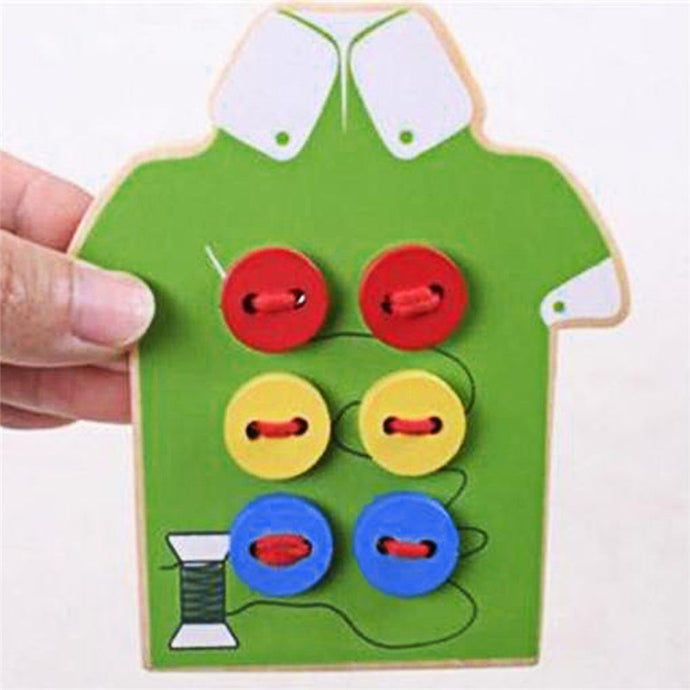 Wooden Sew On Buttons Toy