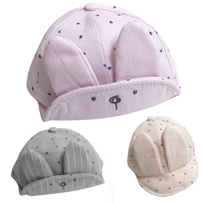 Baby Bunny Rabbit Visor Baseball Cap Cotton