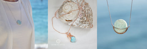 Larimar gemstone jewellery by Gems In Style