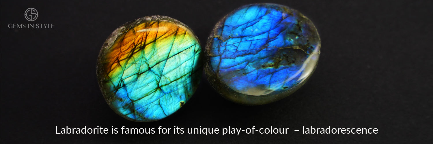 Labradorite gemstones. Gems In Style Jewellery.