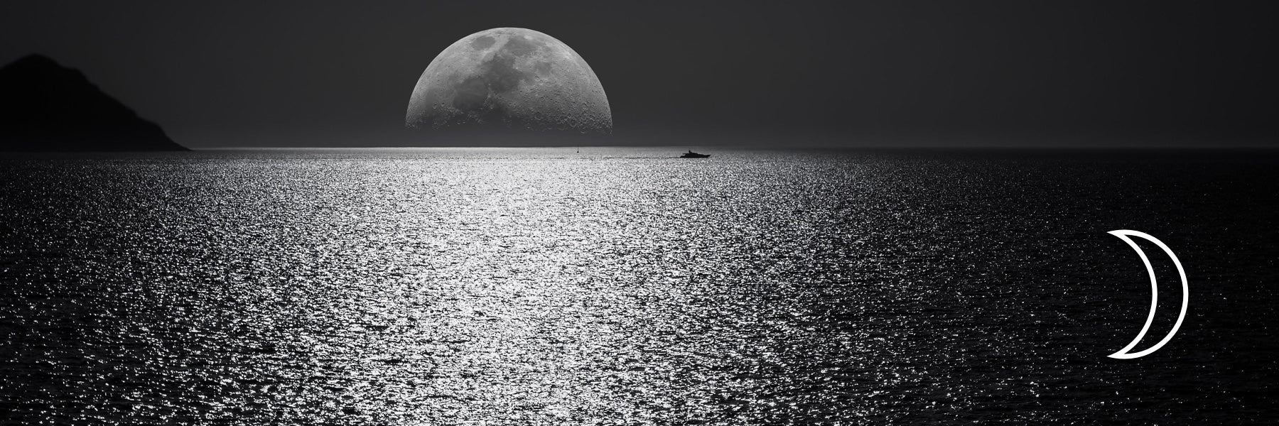 Full Moon and the Ocean