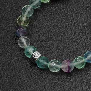 Fluorite bracelet with silver bead by Gems In Style Jewellery