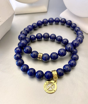 Lapis Lazuli natural gemstone bracelets by Gems In Style Jewellery