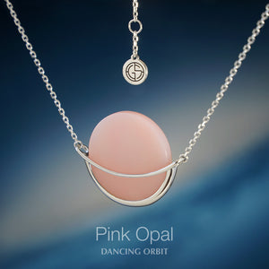Dancing Orbit ⋅ Pink Opal ⋅ Necklace
