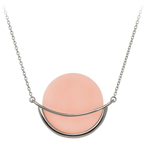 Dancing Orbit Necklace - Pink Opal - 925 Sterling Silver. Gems In Style.