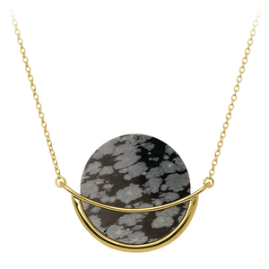 Dancing Orbit ⋅ Snowflake Obsidian ⋅ Necklace