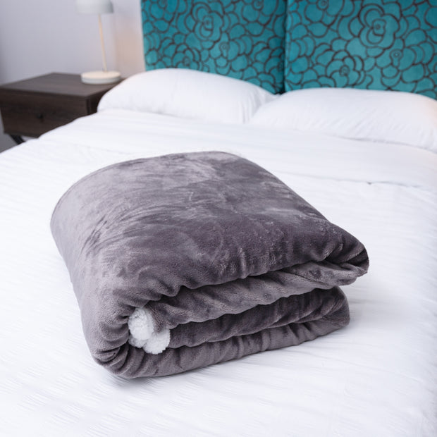 King Size Sherpa Throw Blanket - Time2Sleep