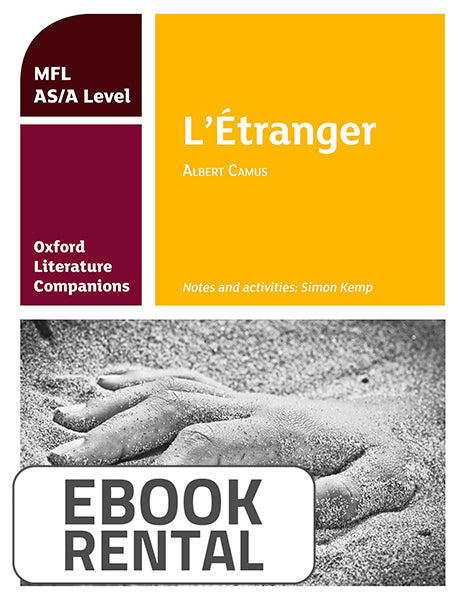 Oxford Literature Companions: L'étranger: study guide for AS/A Level