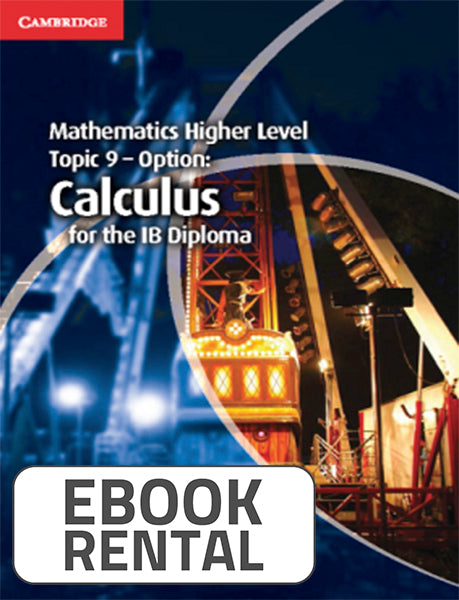 Mathematics Higher Level Topic 9 - Option Calculus for the IB Diploma, 1st Ed. <br> <small><small>by Paul Fannon, Vesna Kadelburg, Ben Woolley, Stephen Ward</small></small>