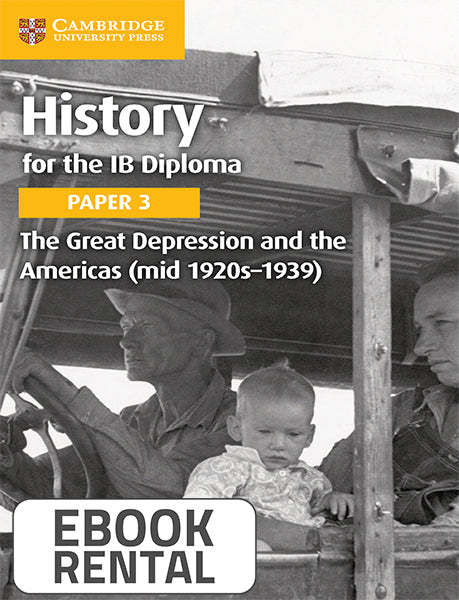 History for the IB Diploma Paper 3 The Great Depression and the Americas (mid 1920s-1939)