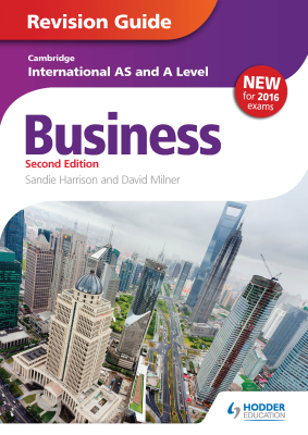 Business Revision Guide for Cambridge International AS and A Level, 2nd Ed. <br> <small><small>by Sandie Harrison, David Milner</small></small>