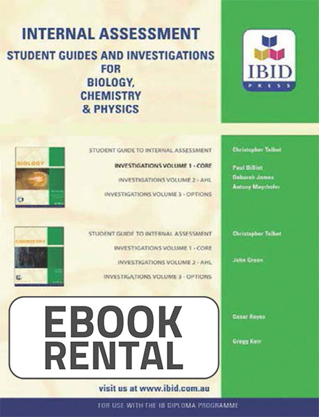 Student Guides and Investigation for Biology, volume 1, 3rd Ed. <br> <small><small>by Paul Billiet, Deborah James, Antony Mayrhofer</small></small>