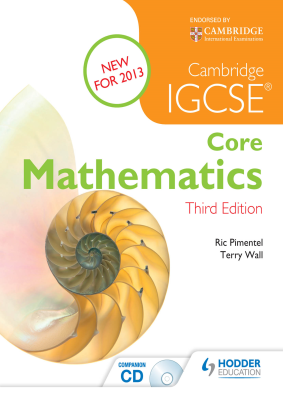 Core Mathematics for Cambridge IGCSE, 3rd Ed. <br> <small><small>by Ric Pimentel, Terry Wall</small></small>