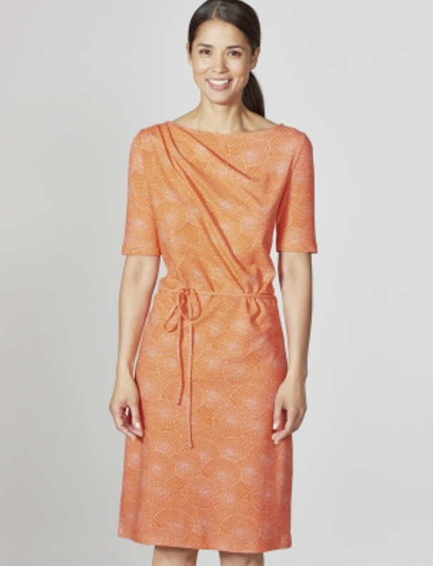 Klassisches Bio-Kleid in Orange