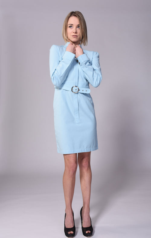 Organic Cotton Dress in Baby Blue