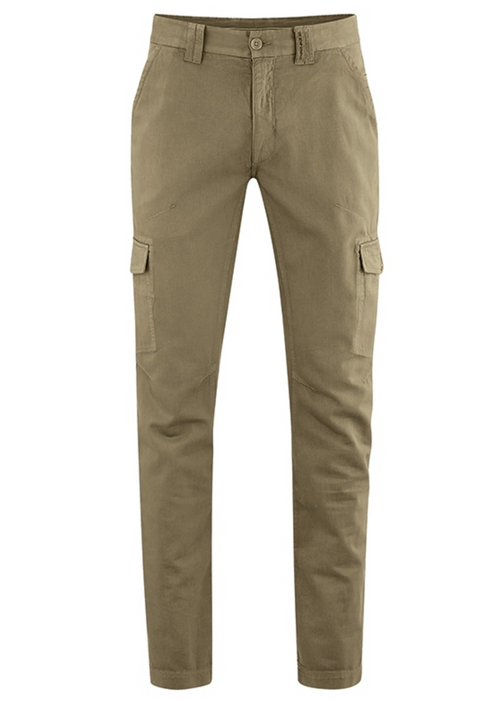 Organic Cotton & Hemp Blend Pants in Camel