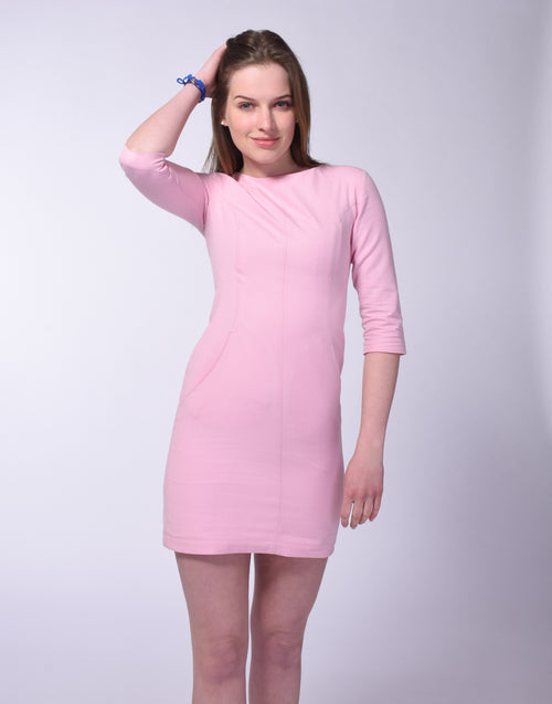 Organic Cotton A-Line Dress in Orchid Pink