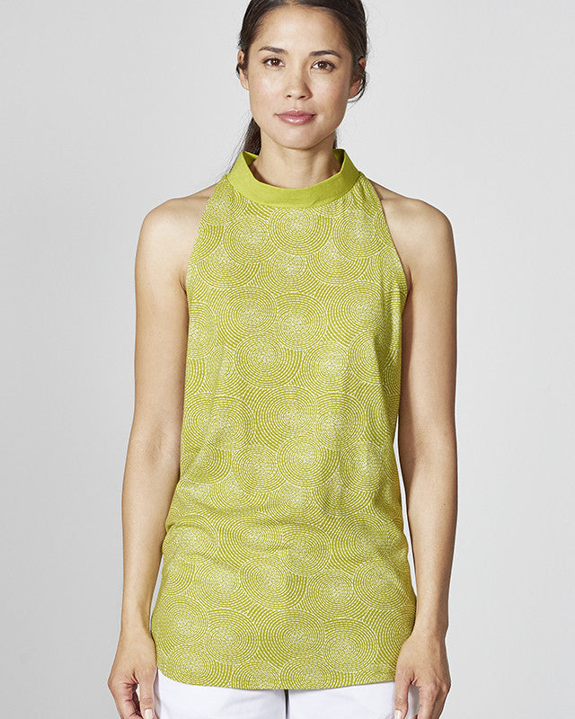 Organic Cotton Blend Sleeveless Top in Apple Green