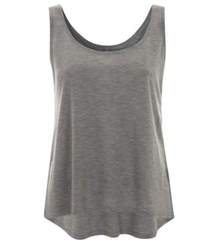 Super Soft 100% Tencel® Tanktop in Melange Grey