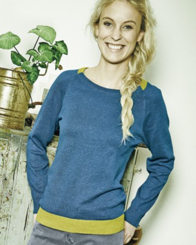 Womens Organic Blend Sweatshirt in Sea Blue