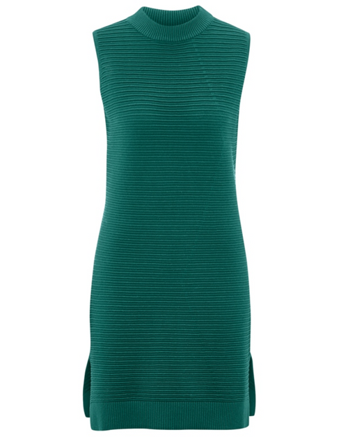 Organic Knitted Dress in Green