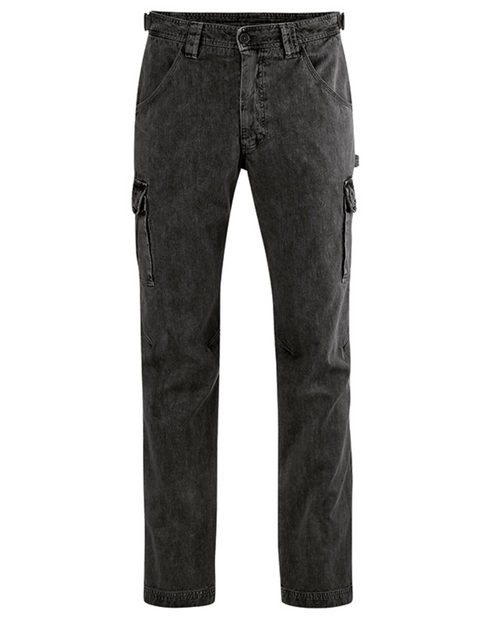 Organic Cotton & Hemp Blend Cargo Pants in Black