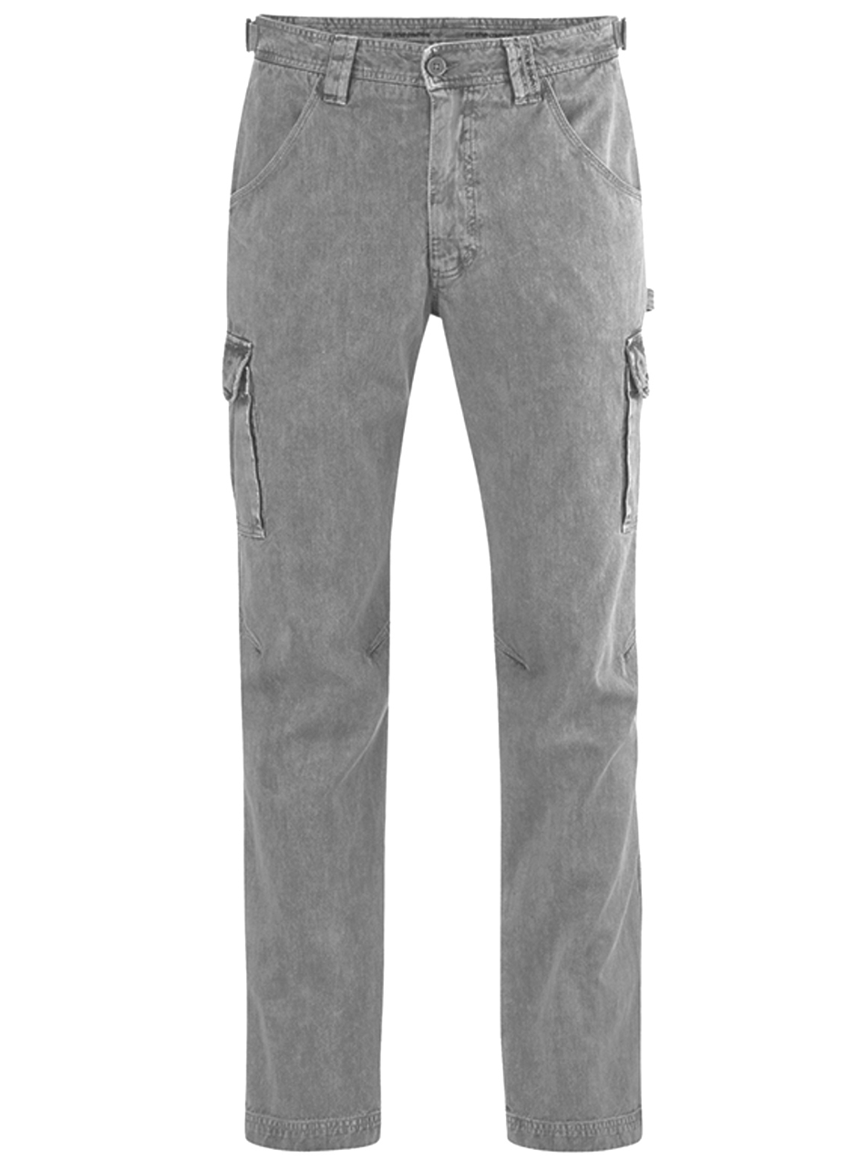 Organic Cotton & Hemp Blend Cargo Pants in Grey