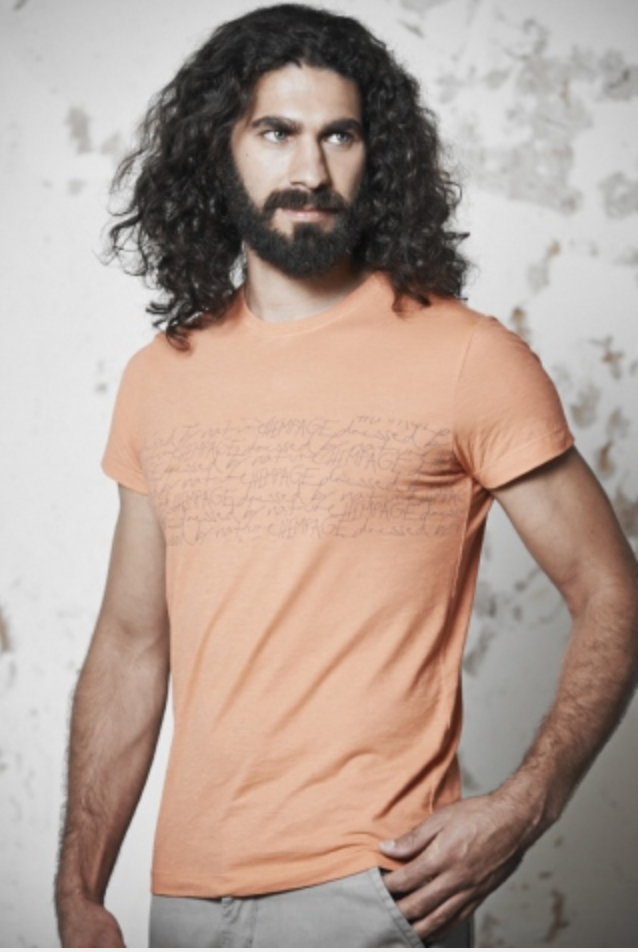 """Dressed by Nature"" Tee für Männer in Orange"