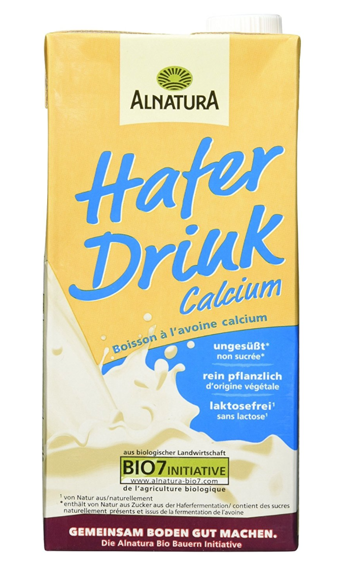 Alnatura Bio Hafer-Drink Calcium Vegan, 8er Pack (8 x 1 L)