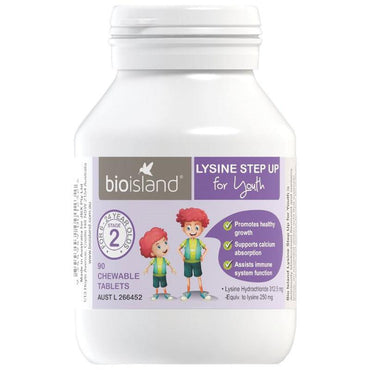 Bio Island Lysine Step Up for Youth 90 Chewable Tablets