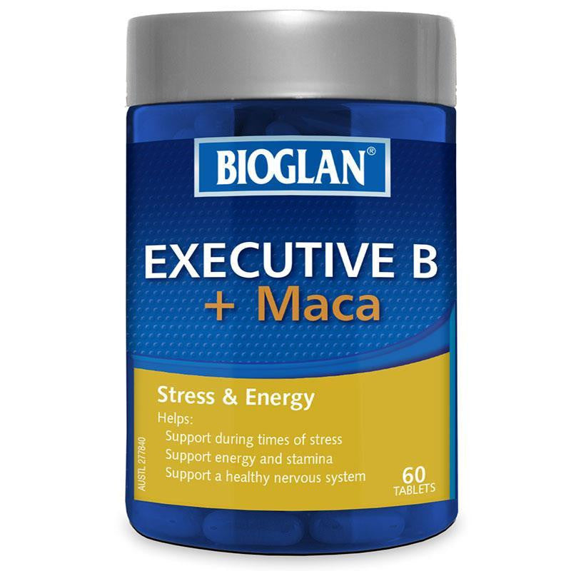 Bioglan Executive B Plus Maca 60 Tablets