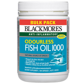 Blackmores Odourless Fish Oil 1000mg 500 Capsules